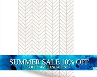 Herringbone Line Beige Peel & Stick Fabric Wallpaper Repositionable