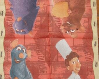 2 Ratatouille paper napkins