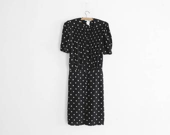 Vintage Sonia Rykiel Dress - Made In France - 100% Rayon - Polka dots - Size 6