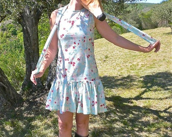 """Cherry blossom"" dress, size bass and in excellent condition"