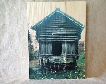 Transfert photo sur bois - Norvège