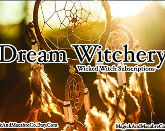 Wicked Witch Subscription Box: Monthly Wiccan/New Age Goodies to your door Wiccan, Witch New Age! August Box- Dreams & Astral Travel
