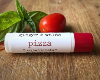 Pizza Lip Balm - Pizza - Lip Balm - Vegan Lip Balm - Beeswax Lip Balm