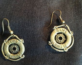 Steampunk Life Boy Bronze Earrings