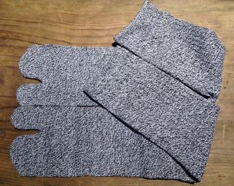 Tabi Split Toe Socks Flip Flop Socks Black&White mix