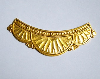 Beautiful connector vintage for creating necklaces, gold brass Art nouveau