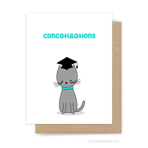 Funny Graduation Card Congratulations Congrats Grad Graduate