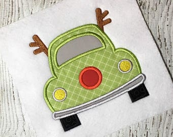 car applique - Christmas applique - Holiday applique - reindeer applique - reindeer car applique - applique design - embroidery design