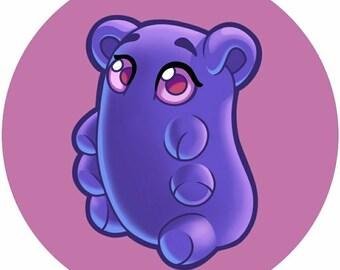 Bean Bear Sticker Set, sticker sheet, vinyl stickers, cute artist character stickers