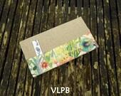 Porte chéquier lin coton liberty TRESCO collection accessoires de sac