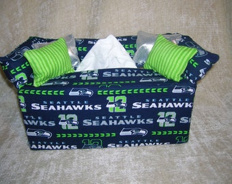 Seattle  Seahawks Tissue Box Covers- new colors and prints