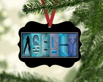 Dive Name Ornament, Dive Christmas Ornament, Personalized Ornament, Diver, Gift Tag, Dive Team Gift, Ornaments, gifts under ten, nephew gift