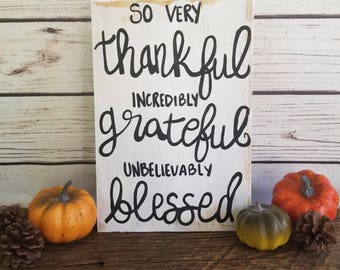 fall home decor fall sign thankful sign grateful sign blessed sign - Fall Home Decor