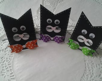 Halloween kitty place cards name tags party favors