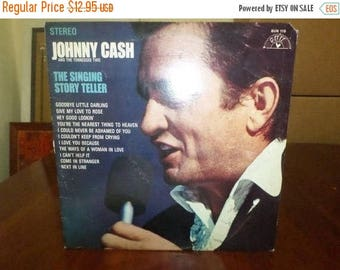 Save 30% Today Vintage 1970 Vinyl LP Record The Singing Story Teller Johnny Cash Near Mint Condition 7075