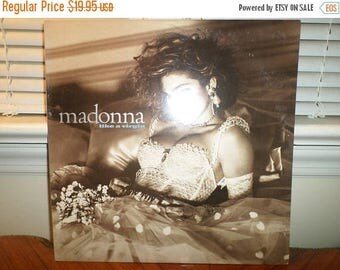 Save 30% Today Vintage 1984 LP Record Madonna Like A Virgin Sire Records 1-25157 Near Mint Condition 13085