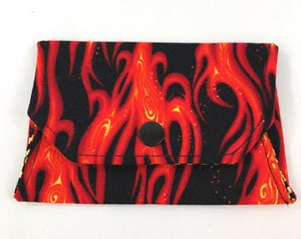 Flame snap wallet // notions pouch // slim pouch // slim wallet // coin purse // gift card holder // pill box // origami wallet