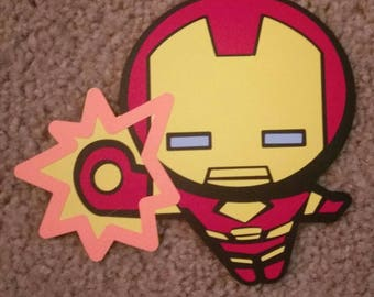 Marvel's The Avengers Ironman - Kawaii Style - Die Cut
