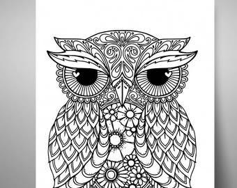 owl mandala svg owl svg mandala owl svg digital cutting file