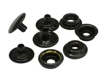 "100 Qty  C.s.osborne K4713-16-c Copper Black Brass Snaps, Size 24 Snaps 5/8"""