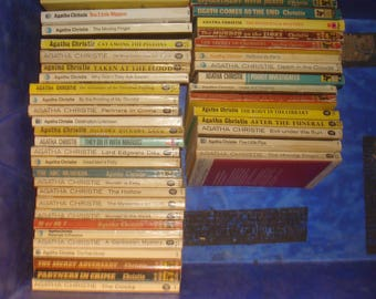 Set of 43 Agatha Christie paperback books.  Mixed age and condition