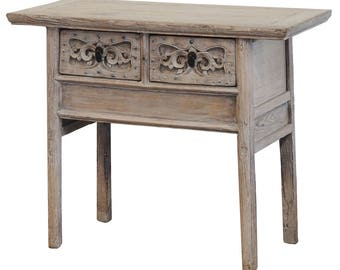 Hand Carved Wood Console Table From Terra Nova Designs