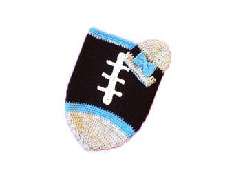 Carolina Fan Favorite Baby Girl Football Cocoon & Hat (Newborn to 3 months)