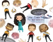 Star Trek The Next Generation Inspired clipart Instant Download PNG file - 300 dpi