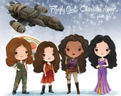 firefly girls character clipart  Instant Download,PNG file - 300 dpi