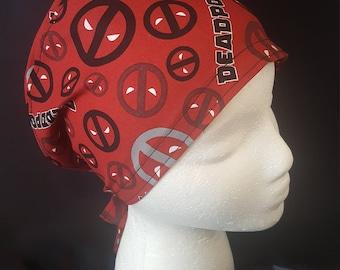 Deadpool Marvel X-Men Tie Back Surgical Scrub Hat Cap