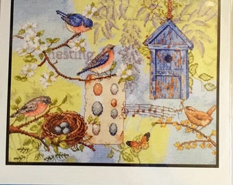 Bucilla Counted Cross Stitch Kit ~Nesting Story~ NEW