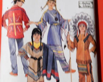 Simplicity 5448 Young native American clothing pattern designed by Andrea Schewe Uncut Sizes 3, 4, 5, 6, 7 and 8