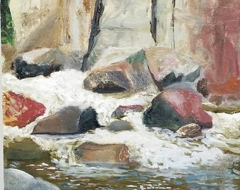 Boulder Creek 11x14 Panel/Oil Painting