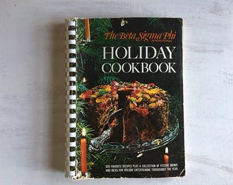Vintage 1971 Beta Sigma Phi Holiday Cookbook