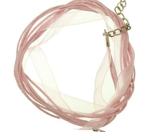 1 round of neck organza and cotton pink pale 42cm