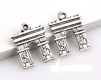 Arc de Triomphe Tibetan silver 2 X