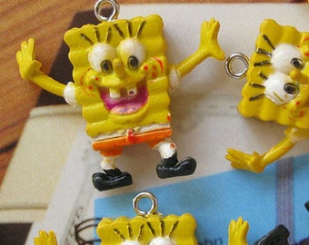 1 x 25mm kawaii Sponge Bob