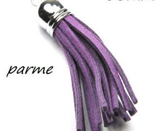 X 1 metal and 56mm purple suede tassel