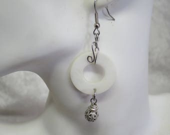 Mother of Pearl earrings- surgical steel posts