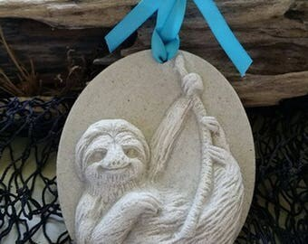 SLOTH Made with Sand Ornament