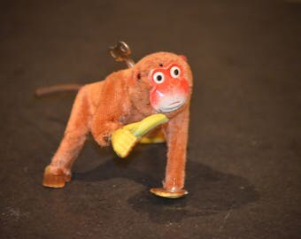 Wind Up Monkey with Banana Toy