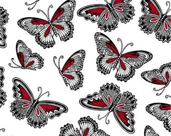 CLEARANCE SALE Rendezvous Butterflies ~Cotton Fabric by Henry Glass~Fast Shipping N328