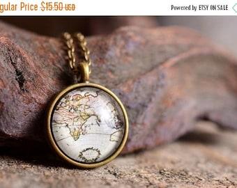 20% OFF Antique map necklace, vintage map necklace, map necklace, map jewelry, antique map pendant, vintage map pendant, vintage map jewelry