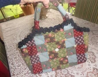 handmade small bag 34 x 26 cm patchwork