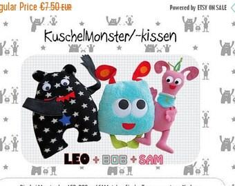 Summer Sale Farbenmix pattern KuschelMonsterchen