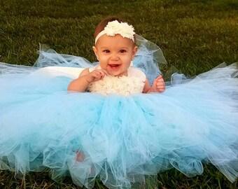 Flower girl dress - Tulle flower girl dress - Ivory Dress - Tulle dress-Infant/Toddler - Pageant dress - Princess dress - Ivory flower dress