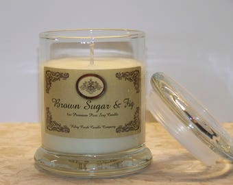 Brown Sugar and Fig Premium 100% Pure Soy Candle 8oz