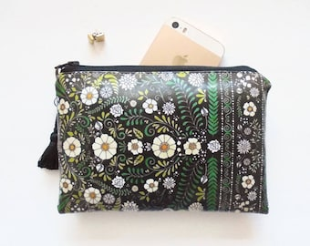 Waterproof Embroidery Print Coin purse/Wallet/Glasses Case/Cosmetics Bag/Make-up Bag/Tampons.