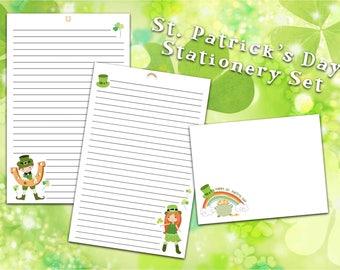 St. Patty's Day Stationery Set - St. Patrick's Day