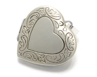 Silver Locket heart shaped 925 sterling silver